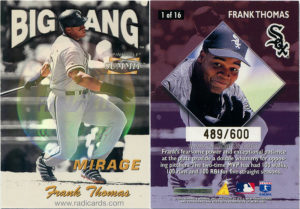 Frank Thomas 1996 Summit Big Bang #1 Mirage /600