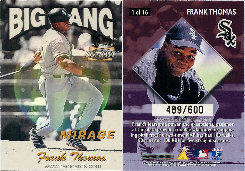 Frank Thomas 1996 Summit Big Bang #1 Mirage /600