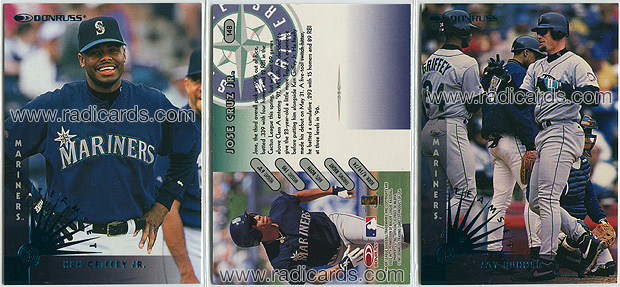 1997 Donruss Team Sets Baseball Mariners Baseball Cards