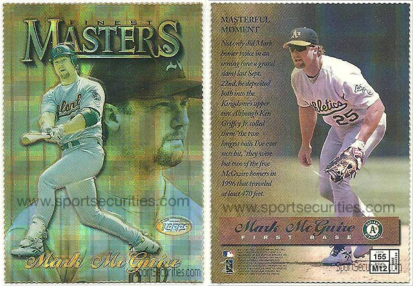 1997 Finest #155 Gold Embossed Refractor