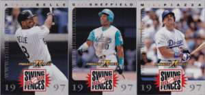 1997 Pinnacle X-Press Baseball Swing for the Fences