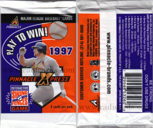 1997 Pinnacle X-Press Baseball Pack
