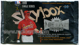 1999 Metal Universe Baseball Pack