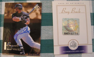 Jeff Bagwell 2000 SP Authentic Buyback #7 /539