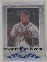 Chipper Jones 2001 Donruss Diamond Kings #DK10 Studio Series /250