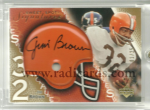 Jim Brown 2003 Sweet Spot Signatures #SSJB Gold /25