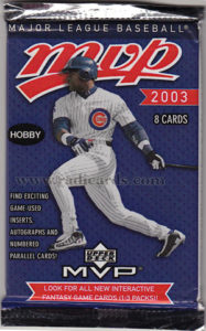 2003 Upper Deck MVP Baseball Hobby Pack