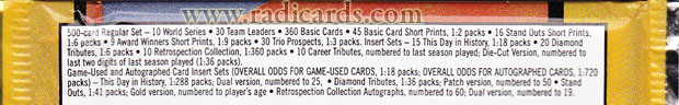2004 Fleer Tradition odds
