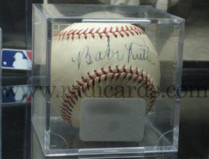 Baseball signed by Babe Ruth