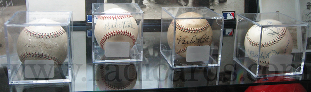 Baseballs signed by Babe Ruth
