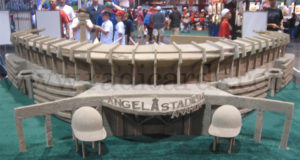 Sand model of Angels Stadium