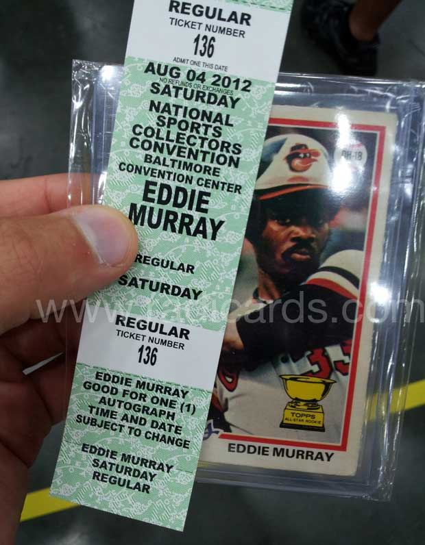Eddie Murray Autograph Ticket