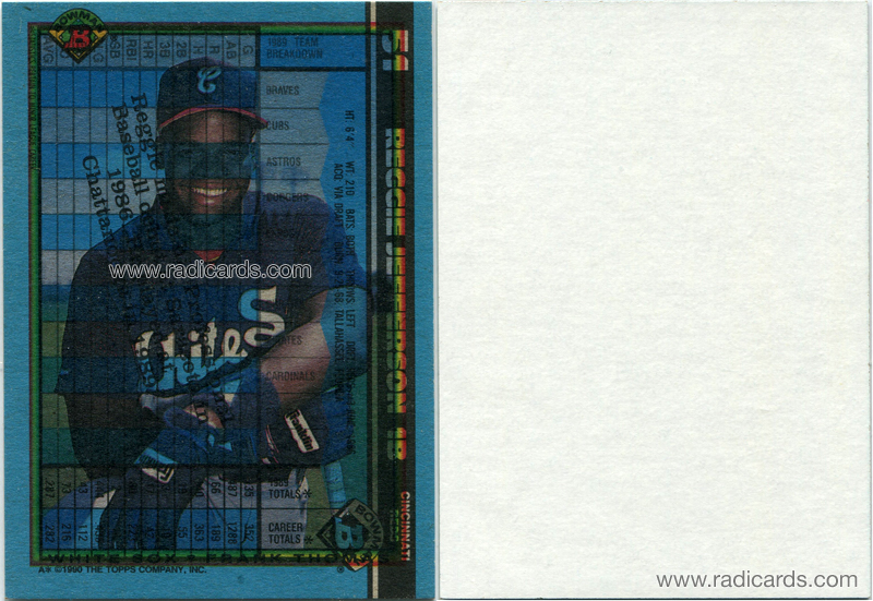 Frank Thomas 1990 Bowman #320 Overprint