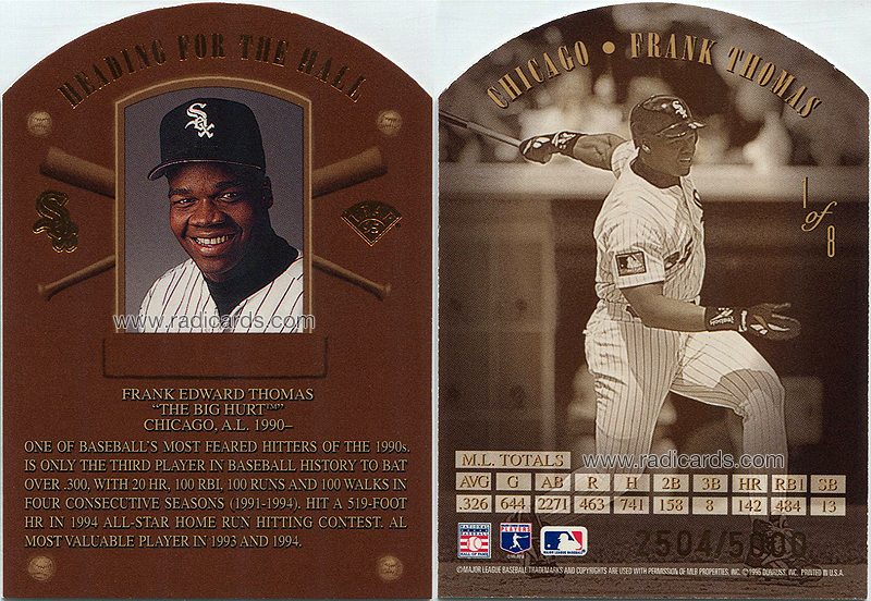 Frank Thomas 1995 Leaf Heading for the Hall #1
