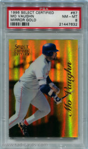 Mo Vaughn 1996 Select Certified #67 Mirror Gold /30