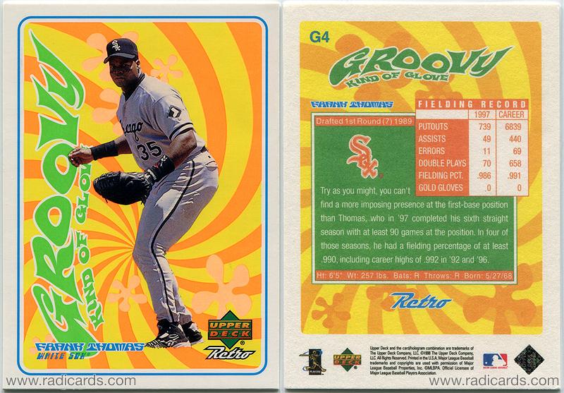 Frank Thomas 1998 Upper Deck Retro Groovy Kind of Glove #G4