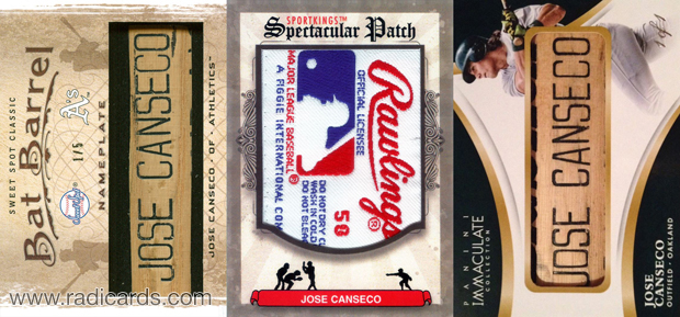 Jose Canseco lot 1