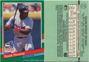 Frank Thomas 1991 Donruss #477