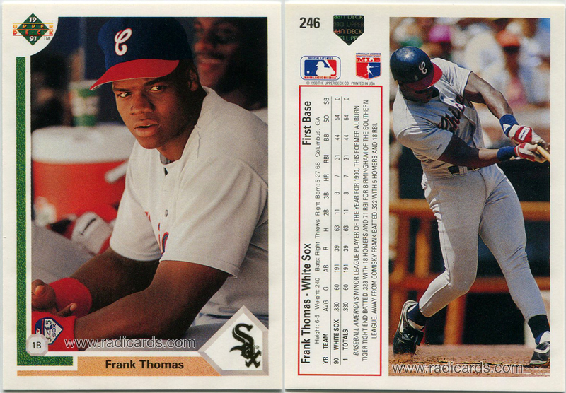 Frank Thomas 1991 Upper Deck #246