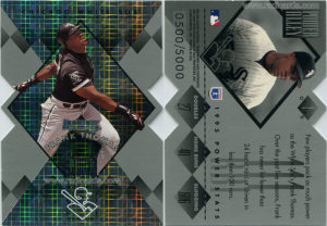 Frank Thomas 1996 Donruss Power Alley #1 Die Cut /500