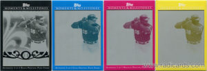 2008 Topps Moments and Milestones Printing Plates