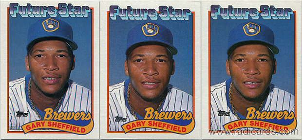 Gary Sheffield 1989 Topps 343 Variation Comparison The Radicards