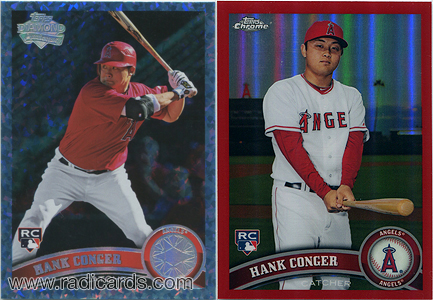 Hank Conger Rookie Cards from 2011
