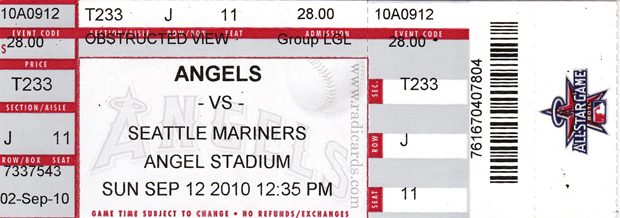 Angels v. Mariners (9/12/2010)