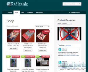 Radicards Store Screenshot