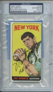 Joe Namath 1965 Topps | Source: pristineauction.com