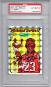 Michael Jordan 1985 Prism Jewel Stickers #7 | Source: pristineauction.com