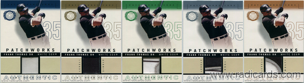 2003 Fleer Patchworks Game-Worn Patch Baseball Cards