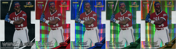 2013 USA Baseball Champions Legends Certified Die Cut Baseball Cards