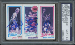 Larry Bird, Julius Erving, Magic Johnson 1980-81 Topps #34 | Source: pristineauction.com