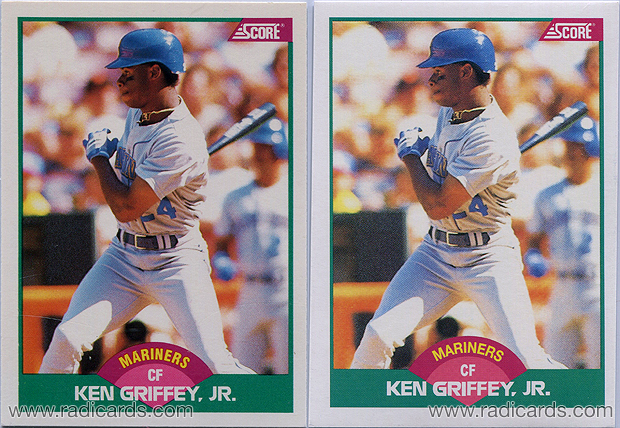 Ken Griffey Jr 1989 Score Rookietraded 100t Variation Comparison