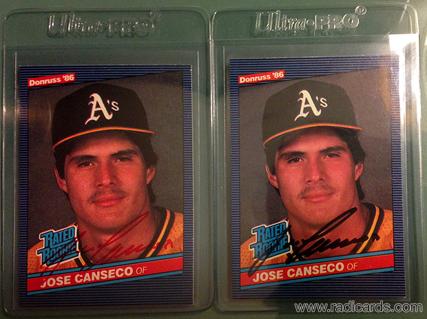 2017 Nscc 1986 Donruss 39 Jose Canseco Signed The