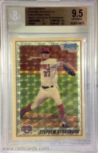 Stephen Strasburg 2010 Bowman Chrome Prospects Superfractor