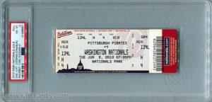 Stephen Strasburg MLB Debut Game Ticket