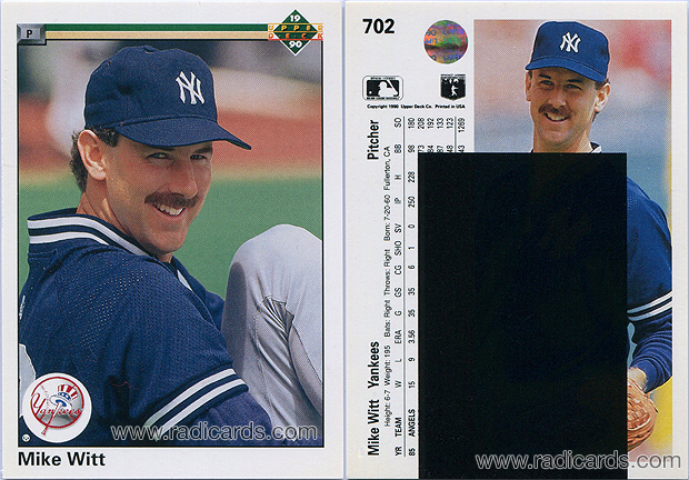 Mike Witt 1990 Upper Deck #702A