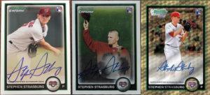 The Three Different Stephen Strasburg 2010 Bowman Chrome AUs