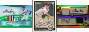 The Three Different Stephen Strasburg 2010 Bowman AUs That Can Be Found As Superfractors