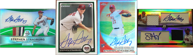 The Only Four Stephen Strasburg Cards from 2010 that Can Be Found as Autographed Superfractors