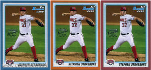 Stephen Strasburg 2010 Bowman Prospects AU #BP1b Proofs