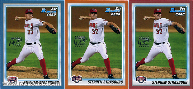 Stephen Strasburg 2010 Bowman Prospects #BP1b AU Proofs