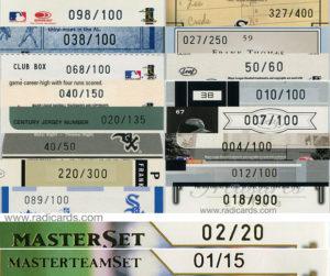 2003 Donruss Team Heroes Master Set and Master Team Set | Serial Number Font Comparison