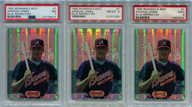 Andruw Jones 1995 Bowman's Best #B7 Refractor