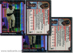 Frank Thomas 1999 Bowman Chrome #256 Gold Refractor