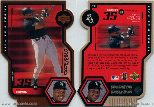 Frank Thomas 1999 Upper Deck View to a Thrill #V10 Double Replacement