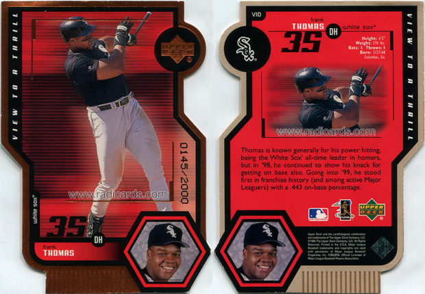 Frank Thomas 1999 Upper Deck View to a Thrill #V10 Double /2000