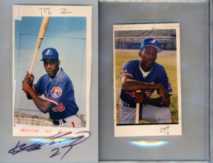 Original Photos used on the Vladimir Guerrero 1995 Bowman's Best RC
